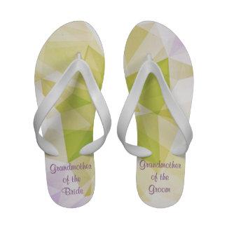 Spring Abstract Wedding Flip Flops Sandals