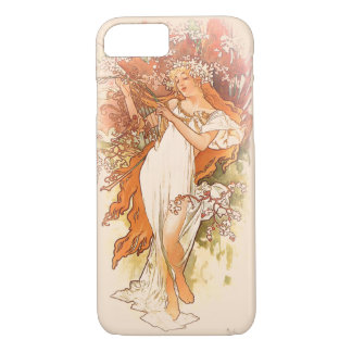 Spring - Alphonse Mucha Art Nouveau iPhone 7 Case