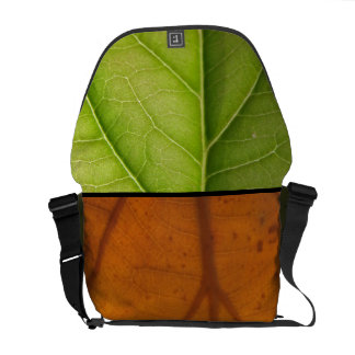 Spring and Fall, Green and Orange Leaves Commuter Bags