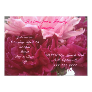 Spring and Summer Family Reunion invitation