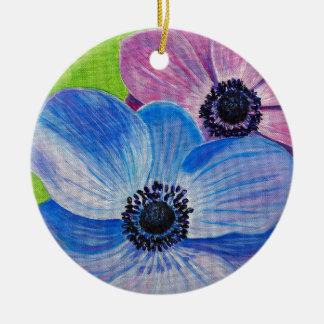Spring Anemones Ceramic Ornament