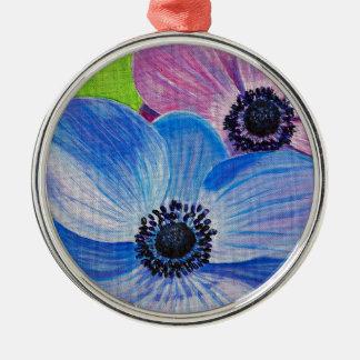 Spring Anemones Metal Ornament