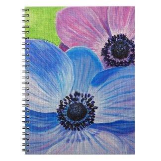 Spring Anemones Spiral Notebook