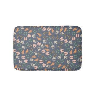 Spring Animal Prints Pattern Bathroom Mat