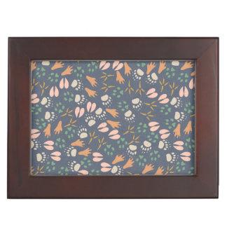 Spring Animal Prints Pattern Memory Boxes