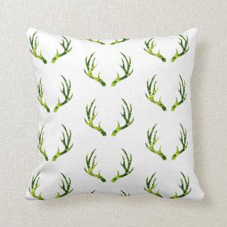 Spring antlers pillow