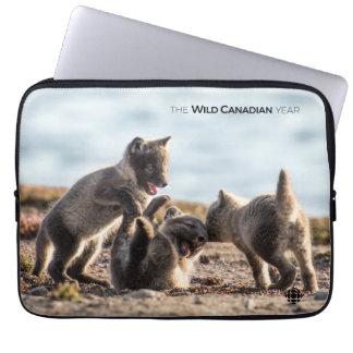 Spring - Arctic Fox Laptop Sleeve