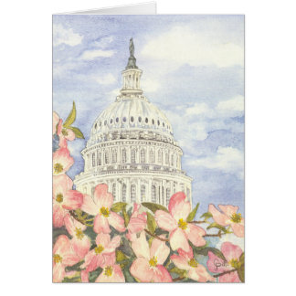 Spring at the Capitol Blank Card