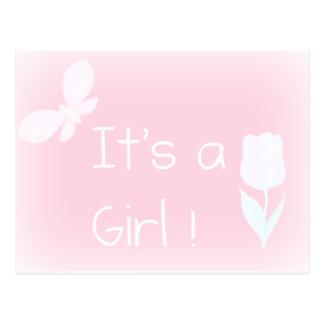 spring baby girl postcard