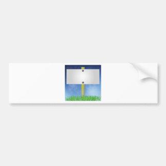 spring banner bumper sticker