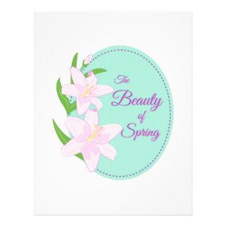 Spring Beauty Letterhead Template