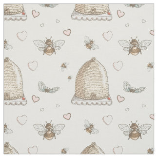 Spring Bees Fabric