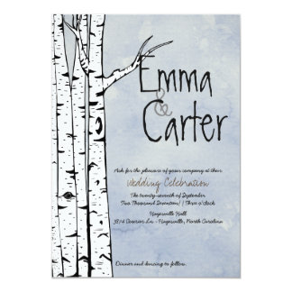Spring Birch Tree Wedding Invitation