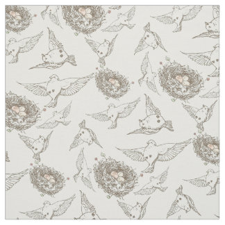Spring Birds Fabric