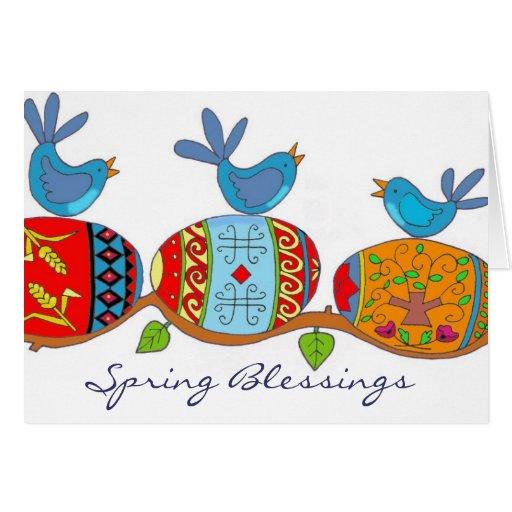 Spring Blessings Ukrainian Folk Art Cards