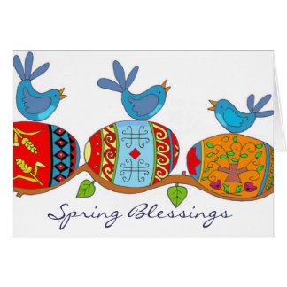 Spring Blessings Ukrainian Folk Art Note Card