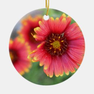 Spring Bloom Pt 2 Round Ceramic Ornament