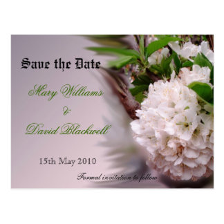 Spring Bloom Save the Date  postcard - customized
