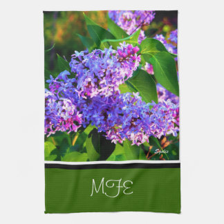 Spring Blooming Lilacs Kitchen Towel