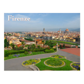 Spring blooms in Florence Postcard
