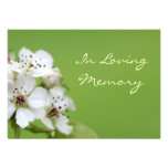 Spring Blossom Memorial Service Funeral Invitation