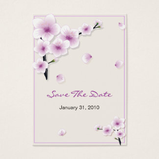 Spring Blossom Save The Date Wedding MiniCard Business Card