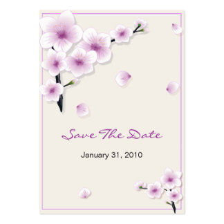 Spring Blossom Save The Date Wedding MiniCard Large Business Card
