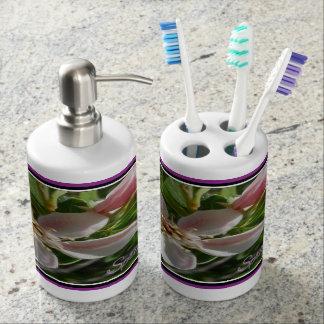 Spring Blossom Soap Dispenser And Toothbrush Holder