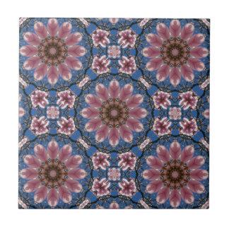 Spring blossoms 2, Floral mandala-style Tile