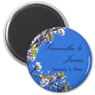 Spring Blossoms and Sky Personal Wedding Magnet