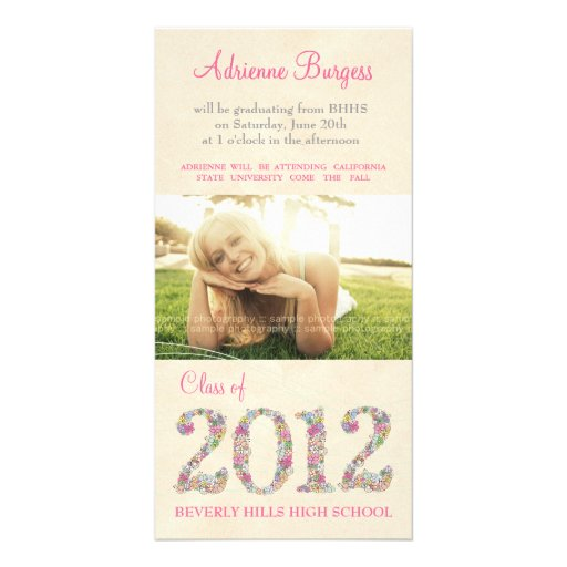 Spring Blossoms Class of 2012 Graduation PhotoCard Picture Card