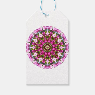Spring blossoms, pink, Flower-Mandala, Nature Pack Of Gift Tags