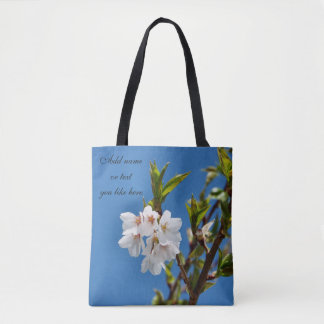 Spring blossoms tote
