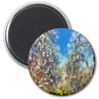 Spring Blosssom 2 Inch Round Magnet