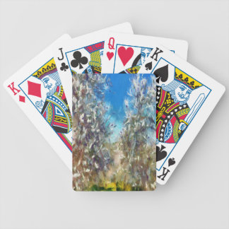 Spring Blosssom Bicycle Playing Cards