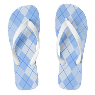 Spring-Blue-Argyle_Preppie's(C)Multi-Styles Flip Flops