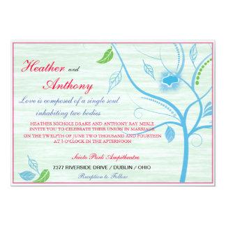 Spring Blue Wedding Invitation