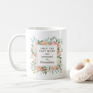 Spring Blush and Peach Watercolor Floral Grandma Coffee Mug