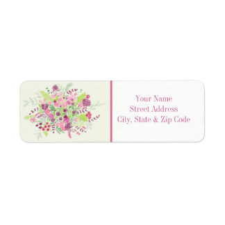 Spring Bouquet Address Label