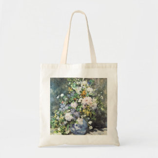 Spring Bouquet by Pierre Renoir, Vintage Flowers Tote Bag