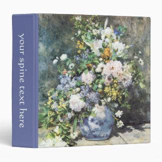 Spring Bouquet by Pierre Renoir, Vintage Flowers Vinyl Binder