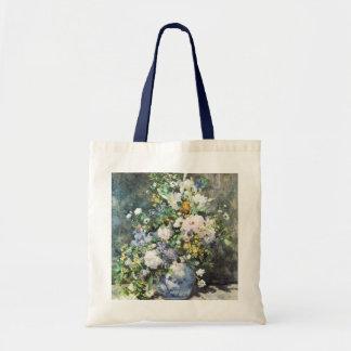 Spring Bouquet by Renoir, Vintage Flowers Budget Tote Bag