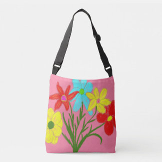 Spring bouquet crossbody bag