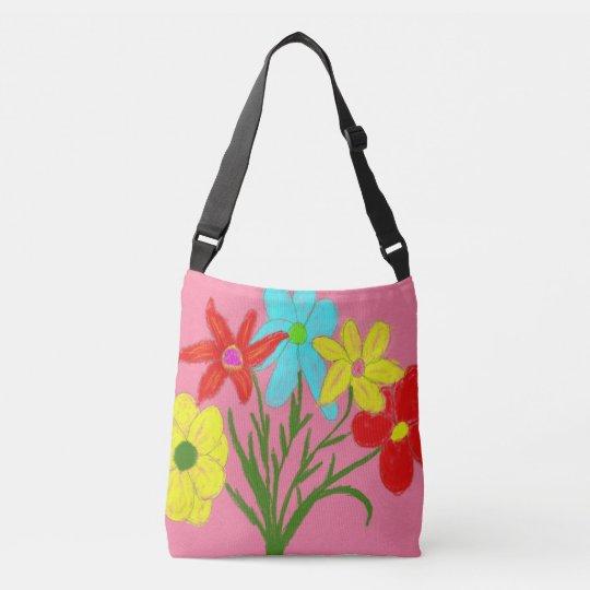 Spring bouquet crossbody bag