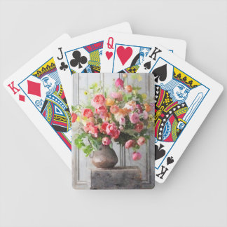 Spring Bouquet Floral Study Bicycle Playing Cards