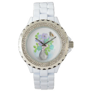 Spring bouquet flowers women wach by Gemma Orte Watch