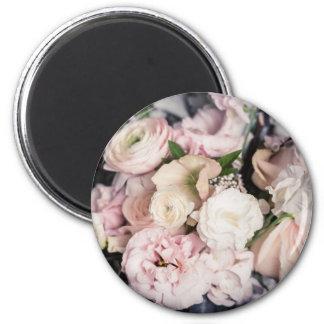 Spring Bouquet in Pastel 2 Inch Round Magnet