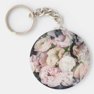 Spring Bouquet in Pastel Basic Round Button Keychain