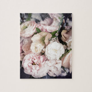 Spring Bouquet in Pastel Jigsaw Puzzle