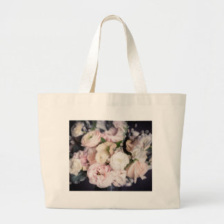 Spring Bouquet in Pastel Large Tote Bag